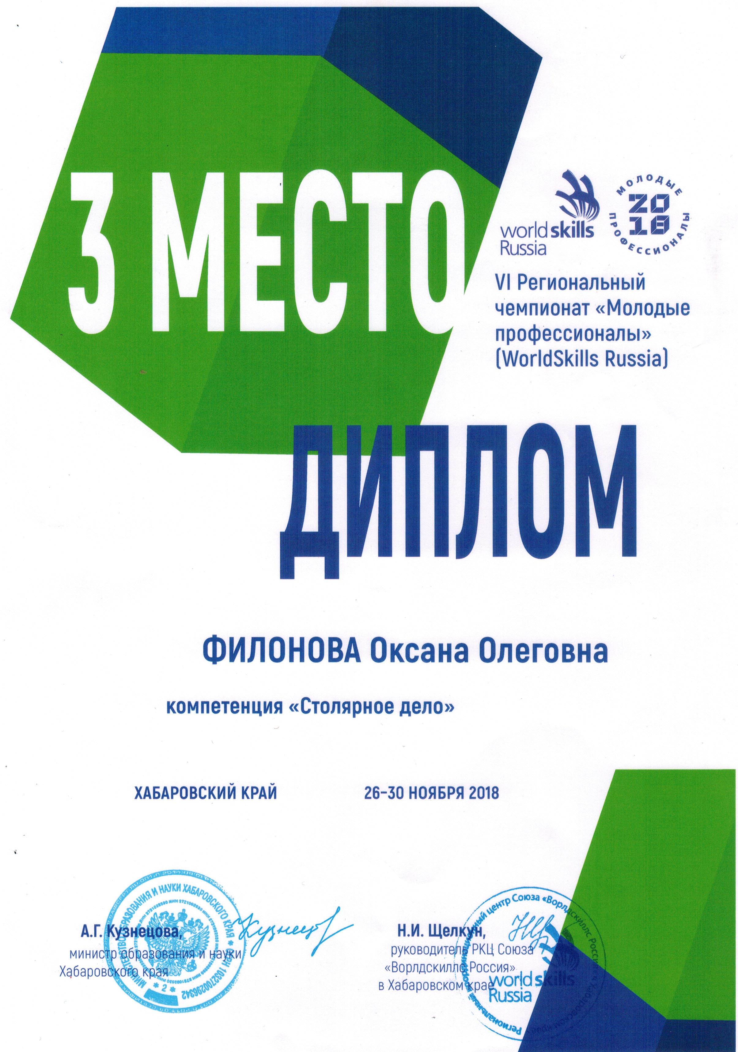 Филонова диплом